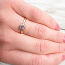Fair Trade Pink Sapphire Ring In 18ct Gold