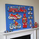 Tin Toy Art Picture No 1 Canvas Print