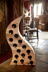 Reclaimed Wooden Wine Rack - shelves & racks