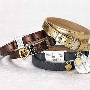 Personalised Luxe Leather Wraps - jewellery gifts for friends