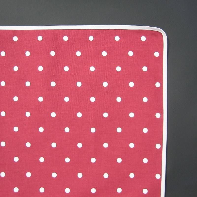 red white polka dot tablecloth by just a joy