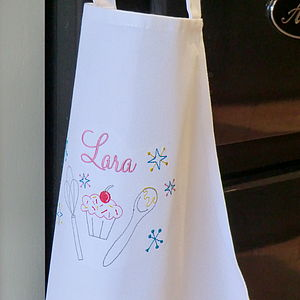 Personalised Embroidered Children's Apron - kitchen