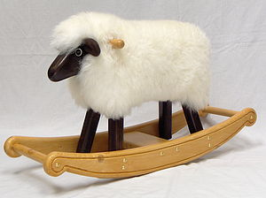 Ivory Fleece Rocking Lamb - children's furniture