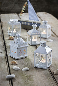 Set Of Five Assorted Metal Lanterns - lights & lanterns
