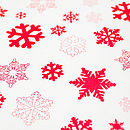 White Sheet Of Recycled Snowflakes Christmas Gift Wrap