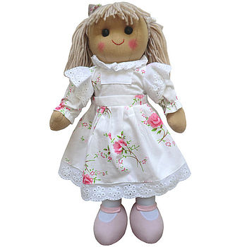 Rose Dress Rag Doll