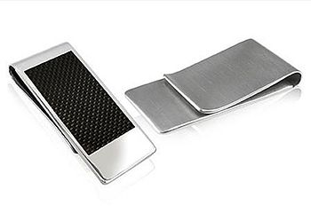 Stainless Steel Carbon Fibre Money Clip