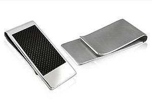 Stainless Steel Carbon Fibre Money Clip - wallets & money clips