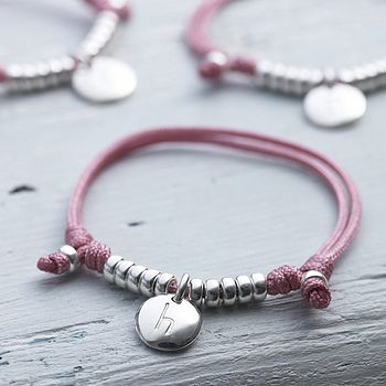 Personalised Girls Silk Friendship Bracelet