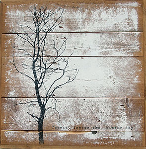 Handmade 'Freeze' Reclaimed Wood Print - art & pictures