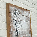 Handmade 'Freeze' Reclaimed Wood Print