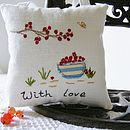 Personalised Handmade Lavender Cushion