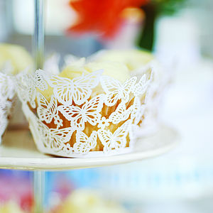 Butterfly Cupcake Wrappers - classic wedding ideas