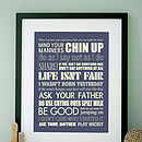 Personalised Wise Words Art Print