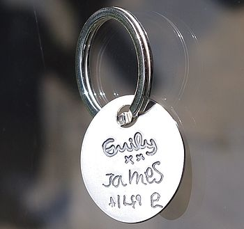 Personalised Signature Keyring