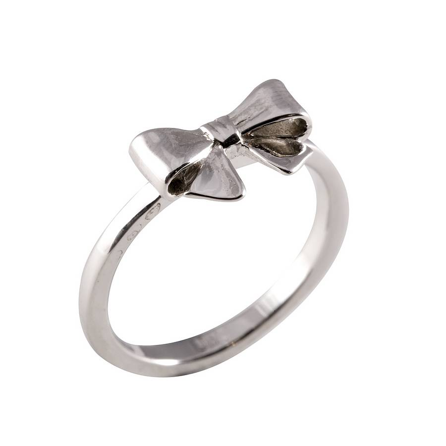 silver bow ring by everley notonthehighstreet
