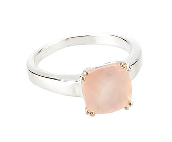 PRICE REDUCTION 60% Square Pink Onyx Ring