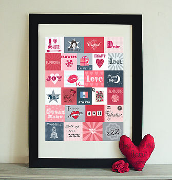 Personalised Lover's Alphabet Print