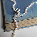 Cultured Pearls Necklace With Butterfly Clasp