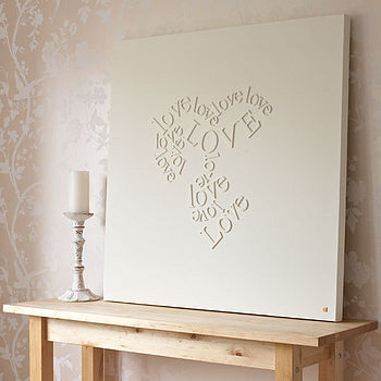Personalised 'Falling In Love' Canvas