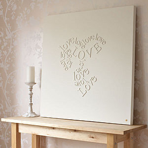 Personalised 'Falling In Love' Canvas - paintings & canvases
