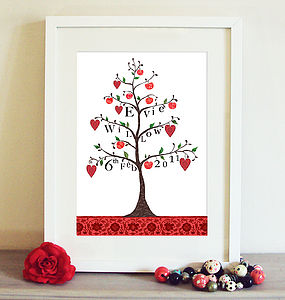 Personalised Apple Tree Print - pictures & prints for children