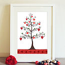 Personalised Apple Tree Print