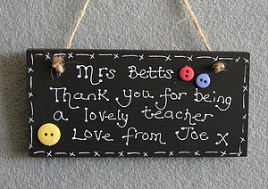 Personalised Thank You Teachers Blackboard - gifts for teachers