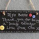 Personalised Thank You Teachers Blackboard