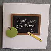 Personalised Teacher Thank You Card - cards