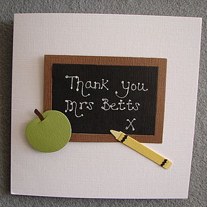 Personalised Teacher Thank You Card - winter sale