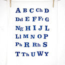 Organic Welsh Alphabet Tea Towel