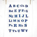 Organic Welsh Alphabet Tea Towel
