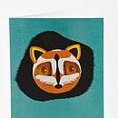 Racoon Paper Balloon Greeting Cards