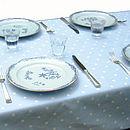 Powder Blue Polka Dot Table Cloth