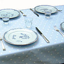 Powder Blue Polka Dot Table Cloth