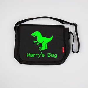 Personalised Child's Dinosaur Bag
