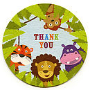 Jungle Buddies Thank You Coasters