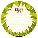 jungle buddies thank you coasters reverse