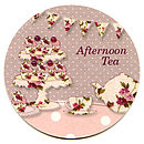 Vintage Afternoon Tea Coaster Invitations