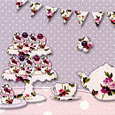 Vintage Florals Note Cards & Thank You's
