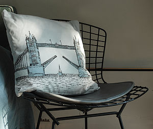 Tower Bridge Cushion - bedroom