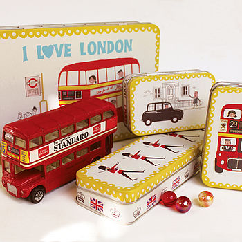 Set Of 'I Love London' Storage Tins
