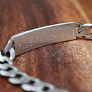 Men's Personalised Sterling Silver Bracelet