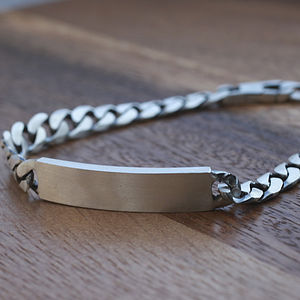Men's Personalised Sterling Silver Bracelet - jewellery