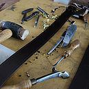 Black Classic Handmade Italian Hide Suit Belt