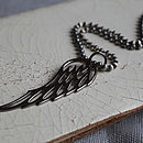 Men's Silver Angel Wing Pendant