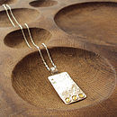 Silver And Gold Rectangle Pendant Necklace