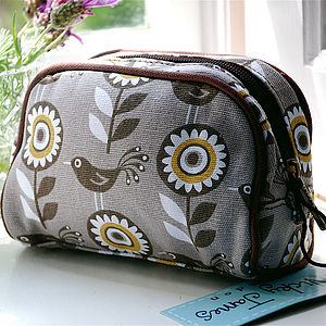 Dove Print Make Up Bag - bags & purses