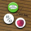 'Best Teacher' Badge Or Magnet Card